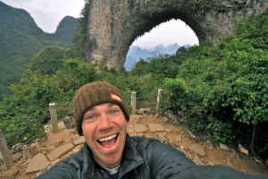 Brad Williams psyched to be at Moon Hill, Yangshuo