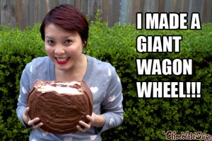 Huge wagon wheel